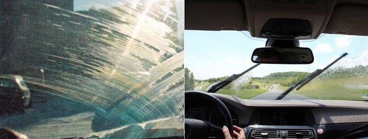 Лайфхаки с газировкой, как отмыть лобовое стекло в машине