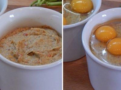 Грибное пюре с яйцами