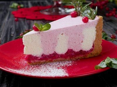 Как приготовить творожный торт с клюквой