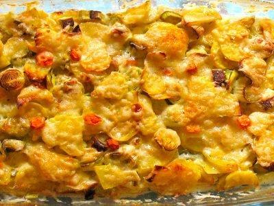 Картофельная запеканка с пореем