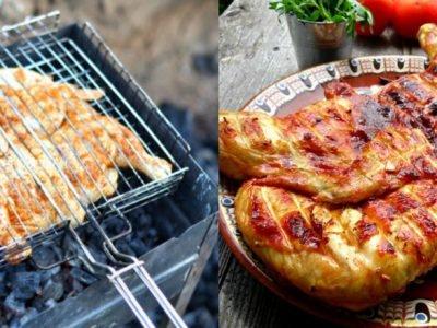 Курица гриль под мятным соусом
