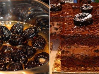 Торт «Пьяная слива»